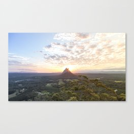 Glass House Mountain Sunset Canvas Print