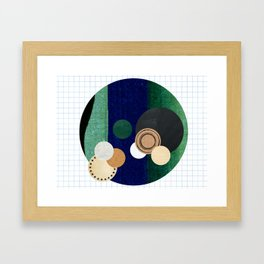 the study of circles... Framed Art Print