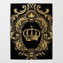 Gold Crown Poster