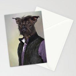 Hairless dog, mix French bulldog / Chinese Crested Dog Stationery Cards