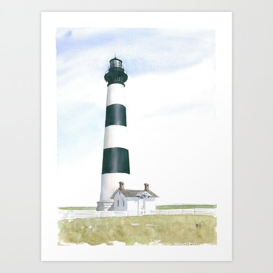 Bodie Island Light Art Print