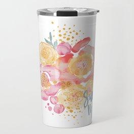 Summer Garden Bouquet - Watercolor Flowers Travel Mug