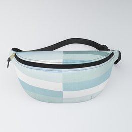 Color Block Stripe in Mint Blue Fanny Pack