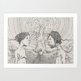 Adam & Eve Art Print