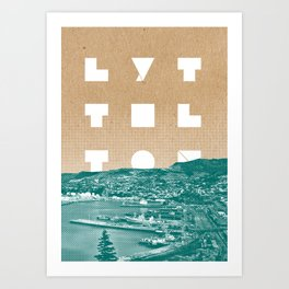 Happy Lyttelton Kraft Art Print