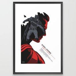 BATMANvSUPERMAN: Dawn of Justice - Movie Poster V1 Framed Art Print