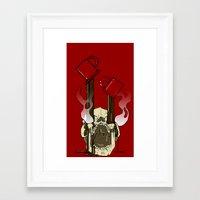 pocket fuel Framed Art Prints featuring Skull Fuel by Allbrotnar