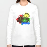 chicago Long Sleeve T-shirts featuring Chicago by Badamg