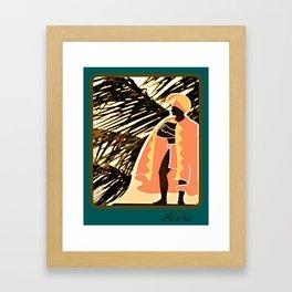 King Aloha Framed Art Print