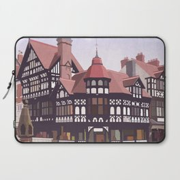 Retro Style Travel Poster - Chester Rows Laptop Sleeve