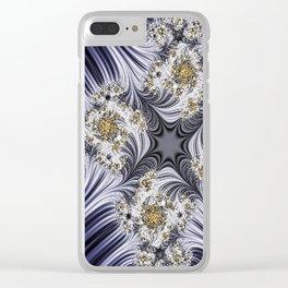 Step Back Fractal Pattern 3 Clear iPhone Case