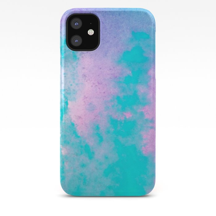 Cotton Candy Watercolor iPhone Case