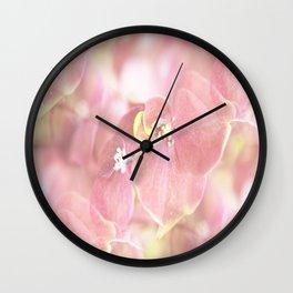 Some Soft Pink Flowers Hydrangea #decor #society6 Wall Clock