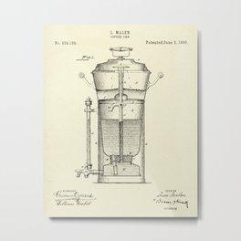 Caffee Urn-1890 Metal Print