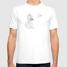 This Bird Has Flown. White SMALL Mens Fitted Tee
