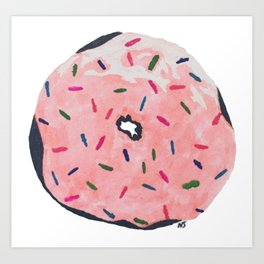 Donut with Sprinkles Art Print