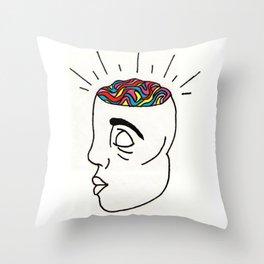 Wild Brain Throw Pillow