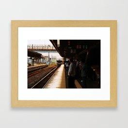 Golden Hour Train Framed Art Print