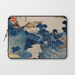 Cottages On Cliffs Traditional Japanese Landscape Laptop Sleeve