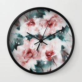 Liquid rose Wall Clock