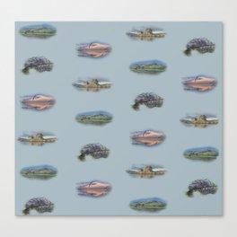 Highland Landmarks in blue Canvas Print