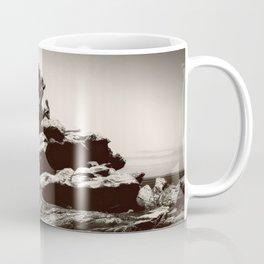 Boy On Rocks Coffee Mug
