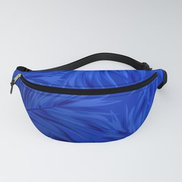 Palm Tree Fronds Brilliant Blue on Blue Hawaii Tropical Décor Fanny Pack