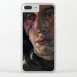 Brooding Muse Clear iPhone Case