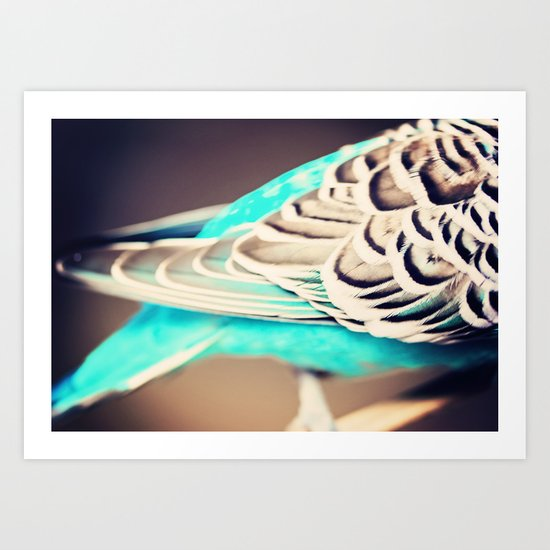 Blue Wings Art Print