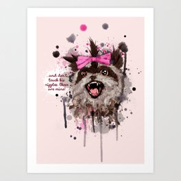 Rose The Raccoon Art Print