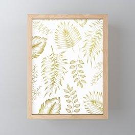 Tropical Leaves - Gold Framed Mini Art Print