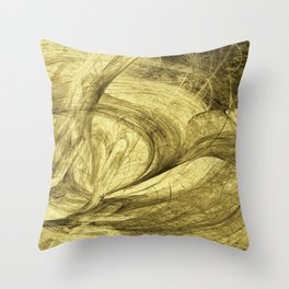 Flying threads of gold Throw Pillow