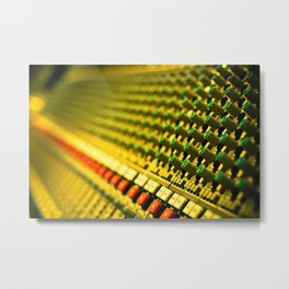 Buttons and Music Metal Print