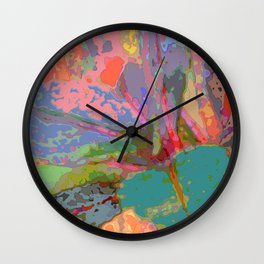 Leaf Pattern Abstract Wall Clock