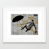 gravity Framed Art Prints featuring gravity by LouiJoverArt