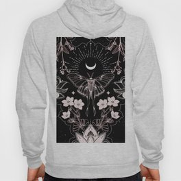 Bohemian Luna Moth On Black Hoody