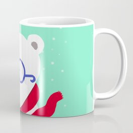 Hipster Polar Bear Coffee Mug