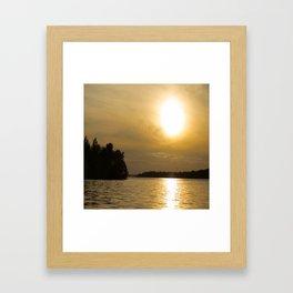 Against The Sun Bridge Framed Art Print