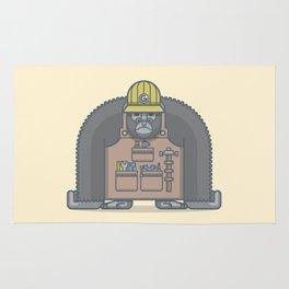 Hard-Working Gorilla Rug