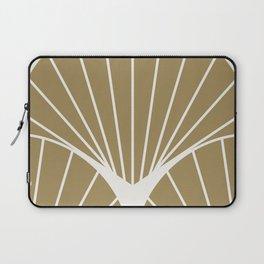Diamond Series Round Sun Burst White on Gold Laptop Sleeve