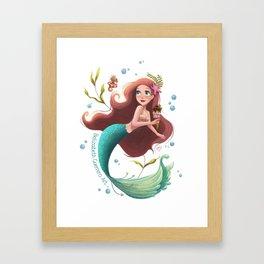Summer Mermie Framed Art Print