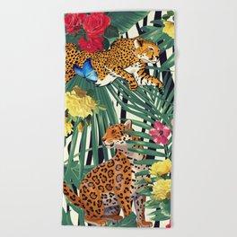 tropical wild  Beach Towel
