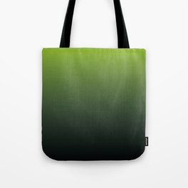 Ombre | Lime Green and Charcoal Grey Tote Bag