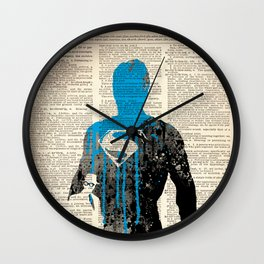 SUPERMAN on dictionary Wall Clock