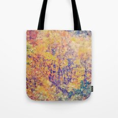 Autumn Woods Abstract -- Colorful Foliage Tote Bag