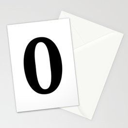0 (BLACK & WHITE NUMBERS) Stationery Cards