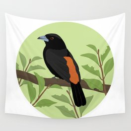 Flame-rumped Tanager Wall Tapestry