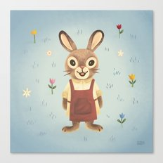Garden Rabbit Canvas Print