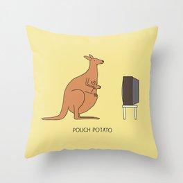 Pouch potato Throw Pillow