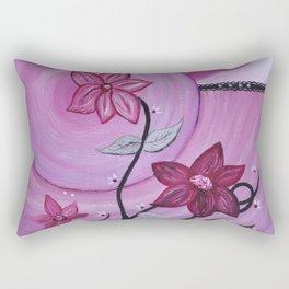 Fleurs et ruban Rectangular Pillow